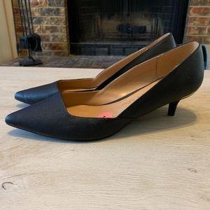 Calvin Klein Black Kitten Heels With Pointed Toe